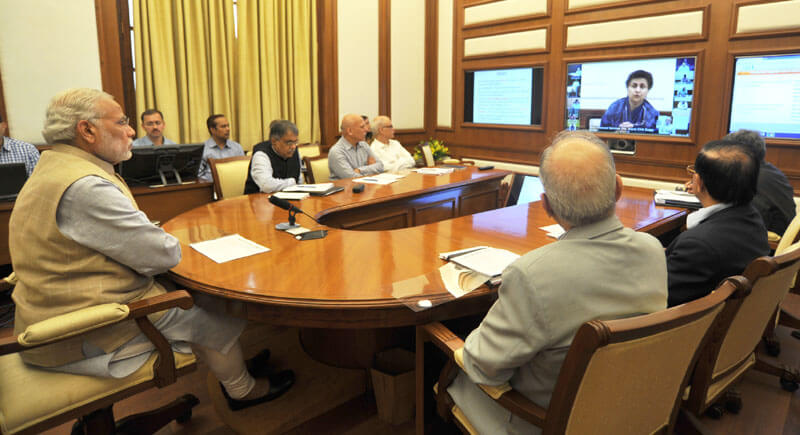 The Prime Minister, Shri Narendra Modi chairing seventh interaction image