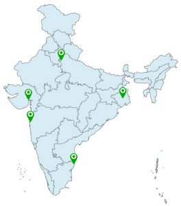 india indicate state map