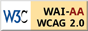 Level Double-A conformance icon, W3C-WAI Web Content Accessibility Guidelines 1.0